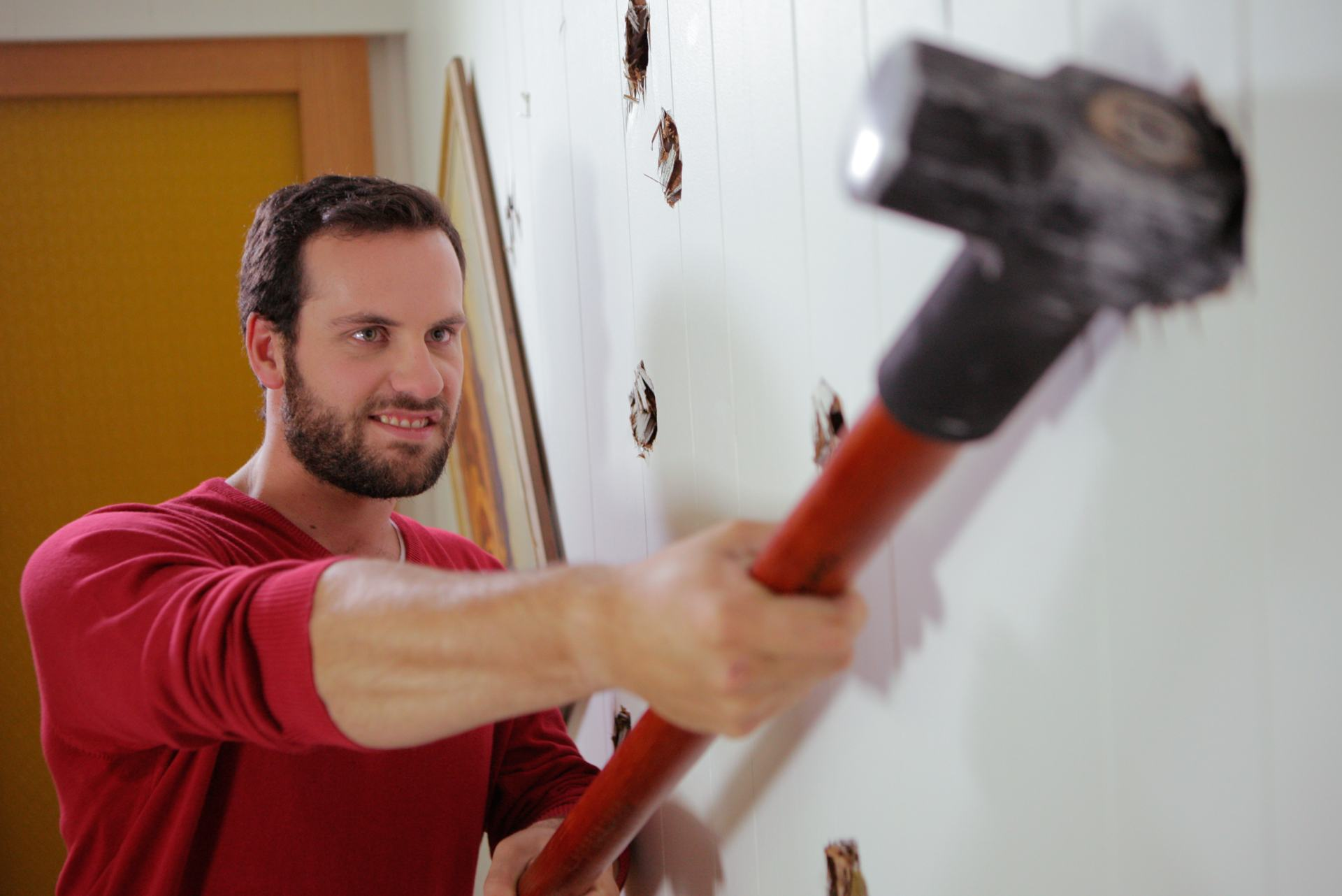Guy with a sledgehammer