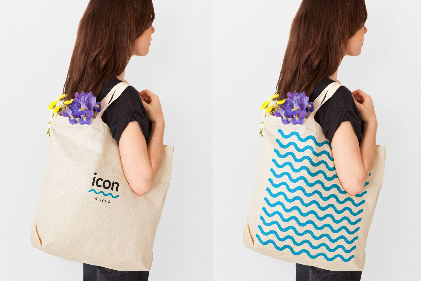 Icon water Calico bag